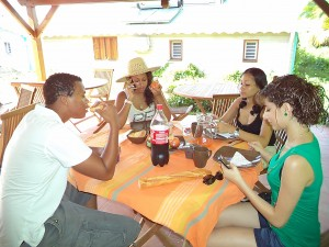 Holiday rental in Guadeloupe, reception host table